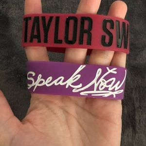 Two Taylor Swift bracelets